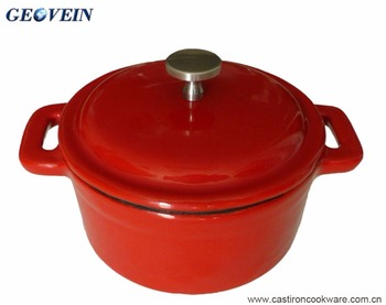 Enamel coating non-stick casserole cast iron hot pot