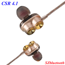 CSR 4.1 high quality M2 4 speakers deep bass stereo earbuds magnetic wireless necklace bluetooth earphone