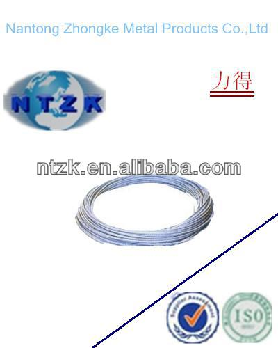 6*12+7FC galvanized steel wire rod