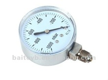 Top Quality chrome-plated vibration-proof pressure gauge with great price