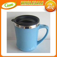 2015 new paper insert thermal coffee mug / plastic advertising cup / starbucks thermal coffee cup(RMB)