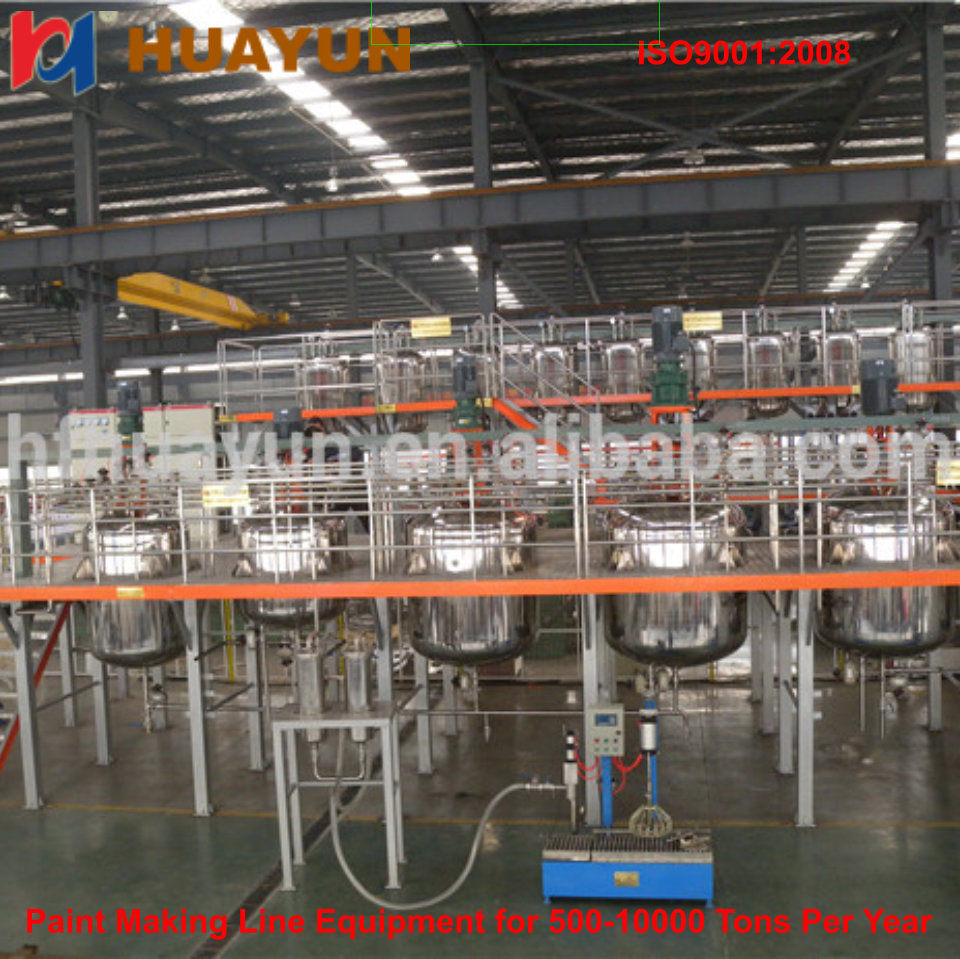 good quality waterproof paint production line using in building high speed container pre mixer for powder paint production line