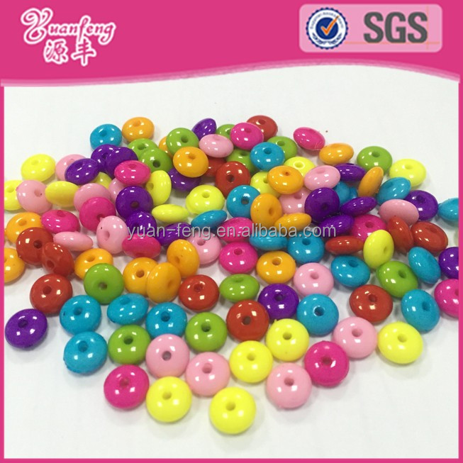 baby jewelry China Supplier Flat Round Button Chunky Acrylic Beads For for jewelry making
