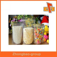 transparent ldpe plastic bag for corn/rice/candy