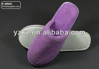 Cute soft purple indoor slippers for women and children