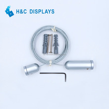 Manufacturer price Ceiling/Floor Fitting aluminum cable wire hanging display system
