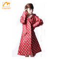 Classic Ladies womens clothing Red hooded raincoat