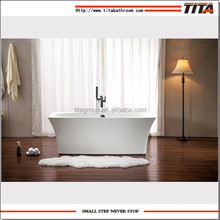 Rectangle indoor acrylic freestanding bathtub