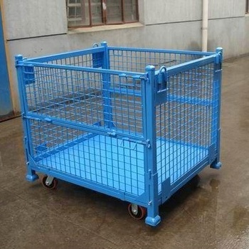 Cargo & Storage Equipment wire mesh steel storage collapsible pallets cage