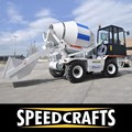 Self-Loading Mobile Cement Concrete Mixer Truck
