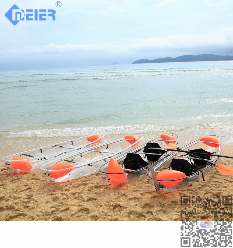 Clear canoe double sea kayak for sale