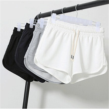 B21084A Summer women cotton beach shorts large size sport short pants