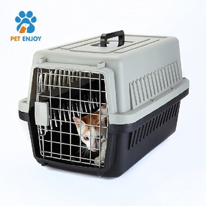 Pet Dog Crate Double-Door Kennel Collapsible Easy Install Fit Your Pets 5 Sizes House