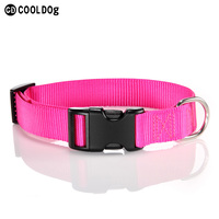 Soft and Pliable Nylon Adjustable Dog Collar With Strong Quick Release Plastic Buckle
