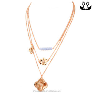Yiwu jewelry factory wholesale gold plated bead gold necklace jewelry designs in 10 grams