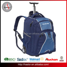 Custom travel business wheeled backpack trolley bag for laptop