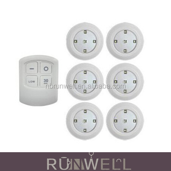 China supplier 2016 new design wireless remote control plastic cover under cabinet light