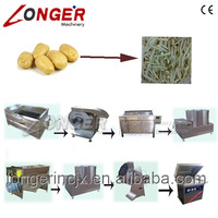 Automatic Fresh Potato Chips Processing Line|French Fries Making Machine sales prices