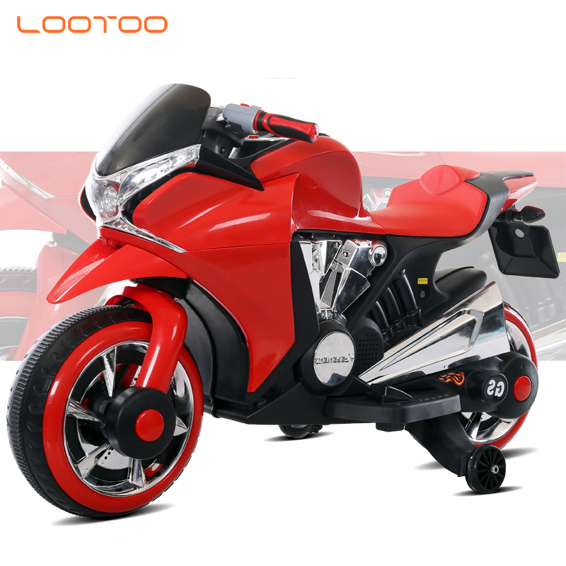 Best cheap pp wheel 6v7ah motorbike scooter 2 seats kids electric motorcycle with flashing light for girl 10 12 and up in hebei