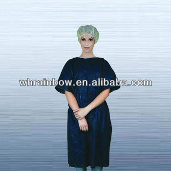 Professional disposable hospital uniform patient gowns