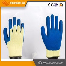 10G Polycotton Liner Coated latex working glove, safety equipment