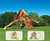 Wooden Play Ground - Rainbow Play House