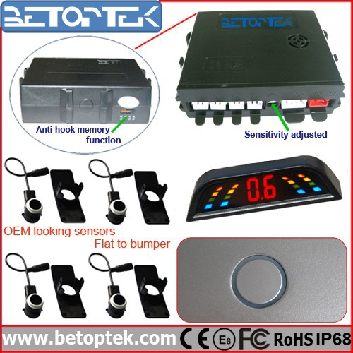 Hot Sale OEM-Look Parking Sensor Waterproof Car Parking Sensor with Side Sensor
