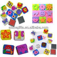 Colourful rubber stamp