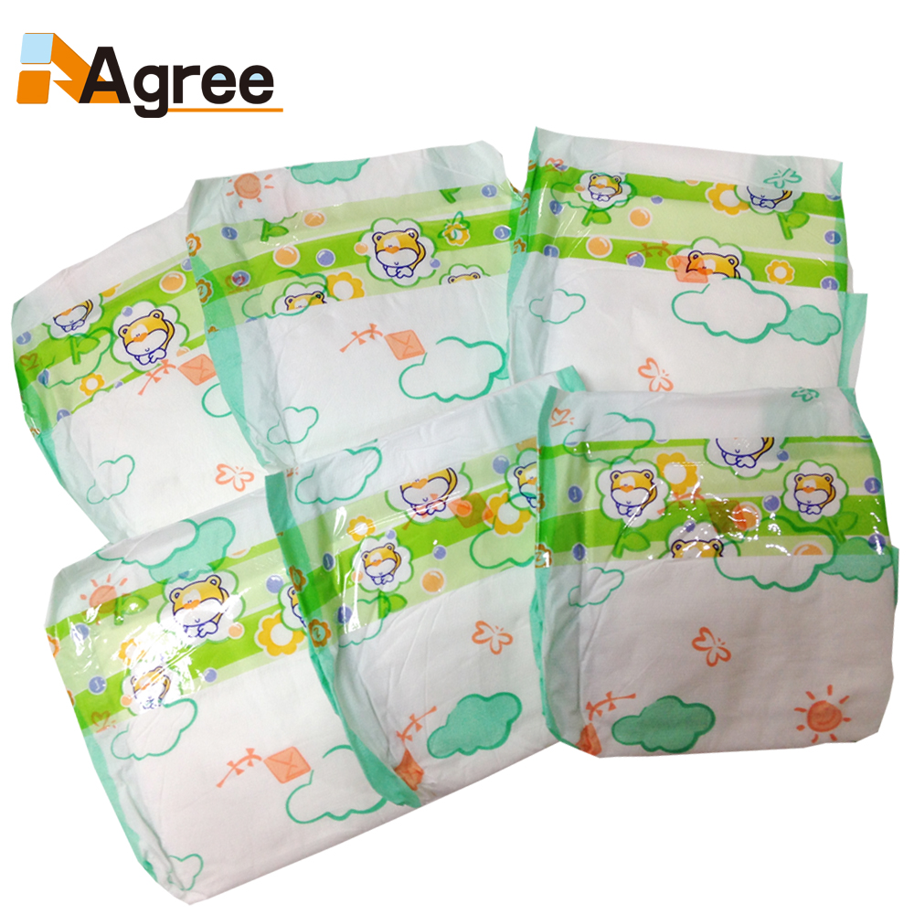 Fast sell cheap non-woven disposable sleep baby diaper/ baby pants diaper wholesell in bales