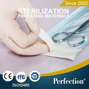 supply Sterilization Flat Reel Pouch/ medical plane roll