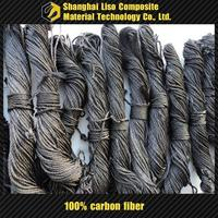 high modulus carbon fiber rope high quality black steel wire rope