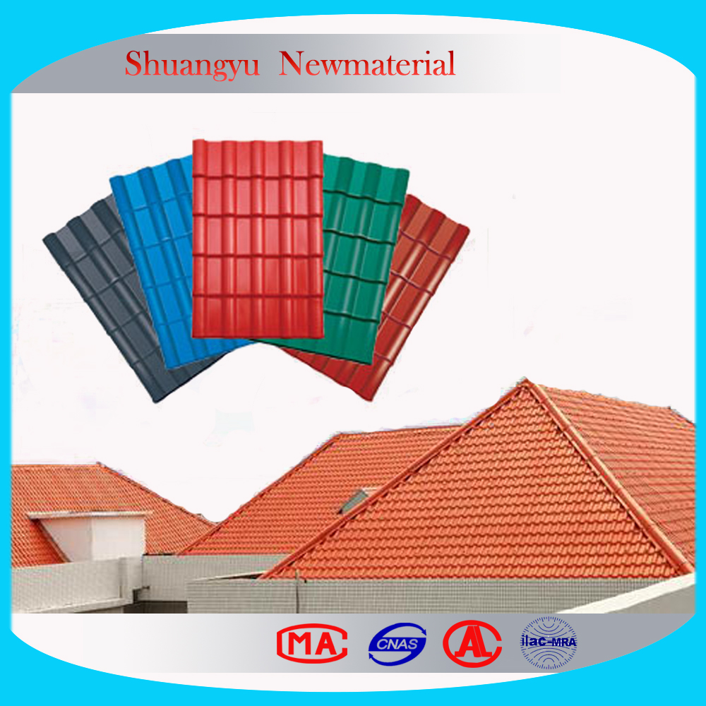 Royal type transparent roof tiles/Spanish clear roofing tile/Polycarbonate Roof Sheet