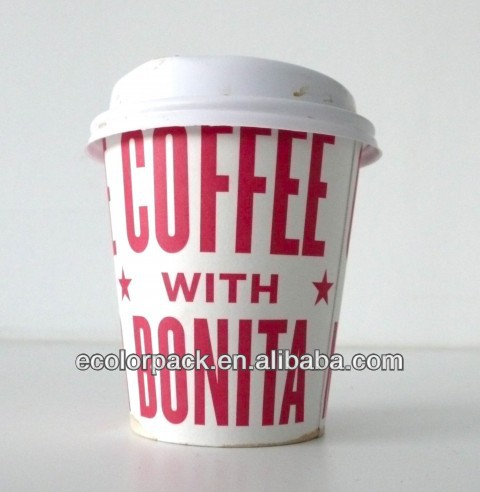 Wholesale color white paper with lid wholesale cups