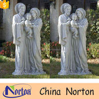 High polished natural marble mother and son garden statue NTMS0861A
