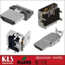 Good quality hdmi 3 cable pin connector UL CE ROHS 049 KLS