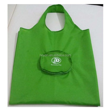 New design market polyester folding shopper bag with zipper