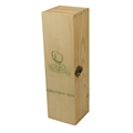 Rustic Wooden Natural Wine Storage Single Box