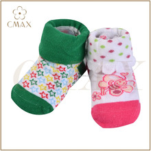 Excellent colourful pattern infant baby socks,new-born turn-over lovely baby 100% cotton socks