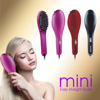 new mini ionic electric fast ceramic hair straightener straightening brush for travel