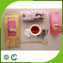 rose flower flavored black tea easy slim tea