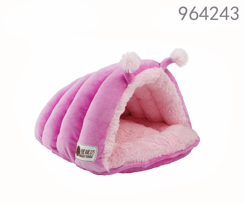Beautiful Unique soft pink bed luxury shell design pet bed