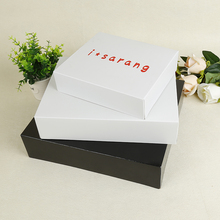 white plain paperboard paper box with custom printed