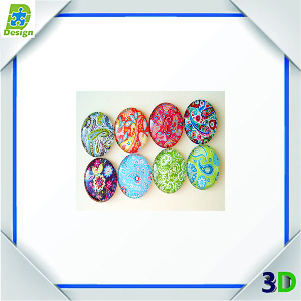 shape glass crystal fridge magnet mirror