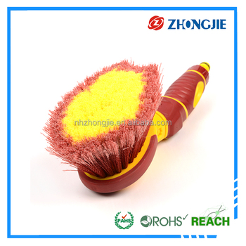 High quality car wheel cleaning brush, soft bristle car wheel brush, car wash brush