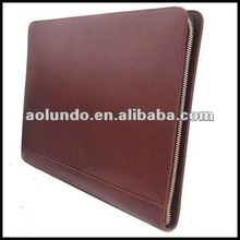 Fashionable design genuine leather file folder