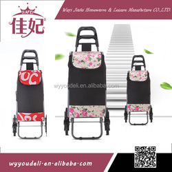 2014 hot sale easy folding shopping trolley ,shopping cart with bag ,supermarket shopping trolley
