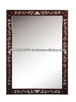 Rosewood Wall Mirror with mother of pearl (cherry shade)