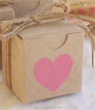 "2"" Tiny Kraft Boxes with Pink and Gold Heart Party favors Gum Balls Cake balls, Truffles, Candy Boxes"