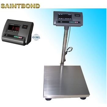 Compact tcs electronic scales with printer 50*60 platform bench weighing scale