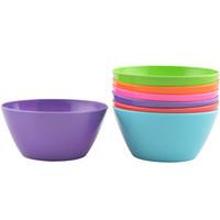 melamine soup bowl set six color assorted